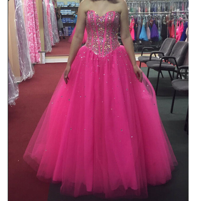 Pink Quinceanera Dress Prom Dresses Sweet 16 Dress pst0738