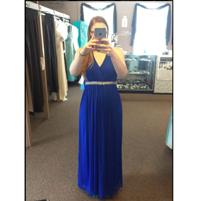 Royal Blue Prom Dress Evening Party Gown pst0754
