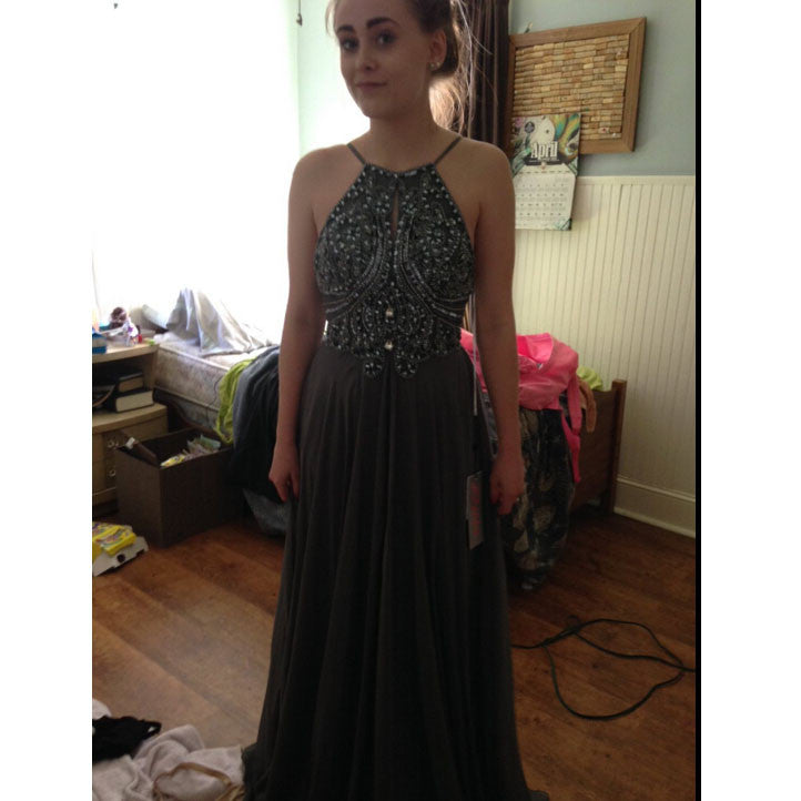 Deep Grey Prom Dress Evening Party Dresses pst0759