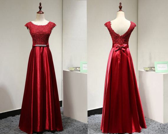 Red Prom Dress Evening Party Dress pst0778