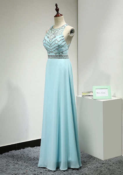 High Neckline Prom Dress Evening Dresses pst0782