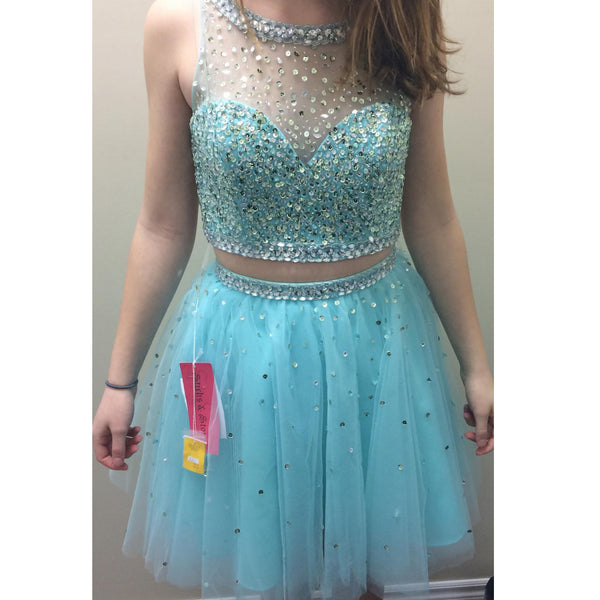 Homecoming Dress In Two Pieces Short Prom Dresses pst0795