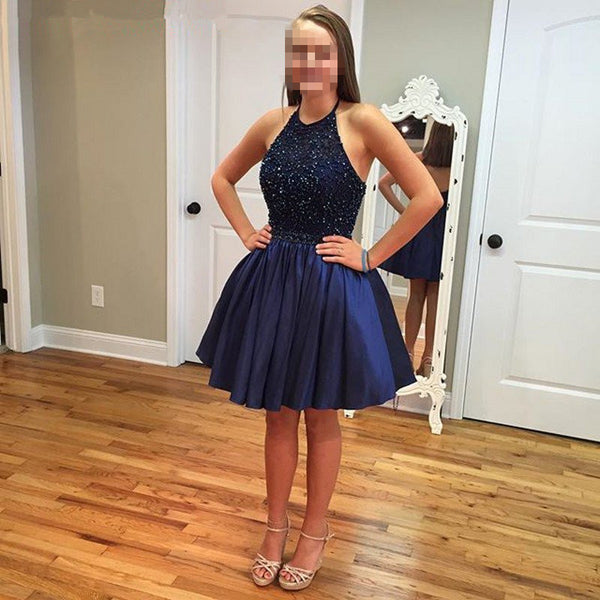 2016 Halter Neck Prom Dress Homecoming Dress Short Prom Party Dress pst0831