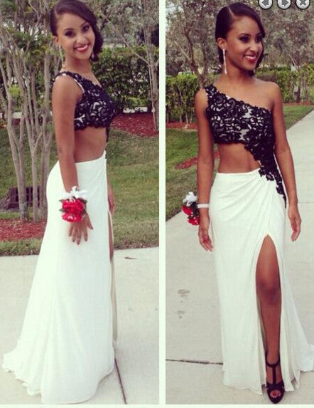 Sexy Prom Dress Black And White Party Gown pst0882