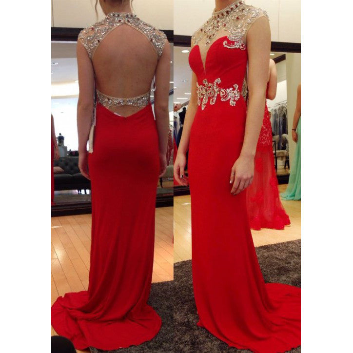 Backless Prom Dress Long To Floor Prom Dresses pst0911