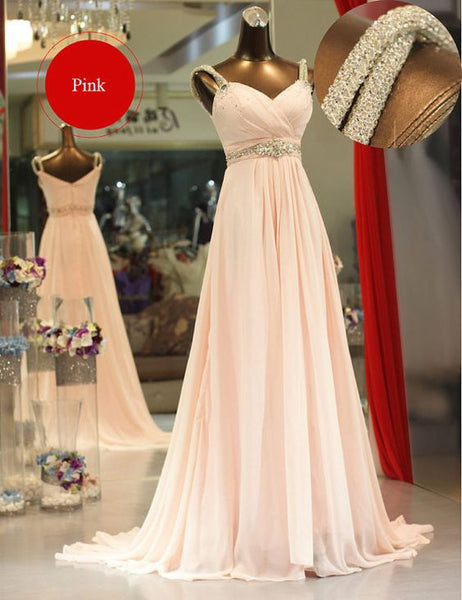 Long Prom Dress Affordable Price Chiffon Evening Party Dresses pst0939