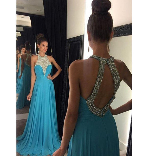 Halter Prom Dress Prom Dresses For Party pst0953