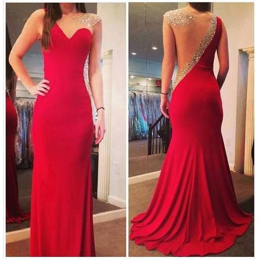Red Prom Dress Evening Party Dresses pst0993