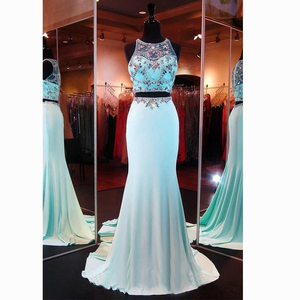 Two Pieces Prom Dress Evening Party Dresses pst1003