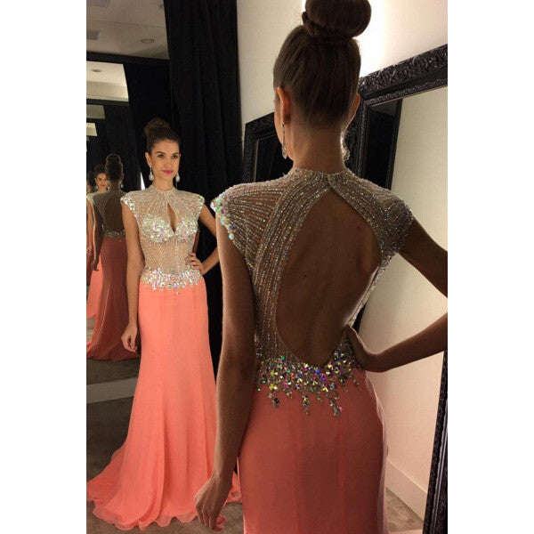 Backless Prom Dress Wedding Party Gown Cocktail Formal Wear pst1453
