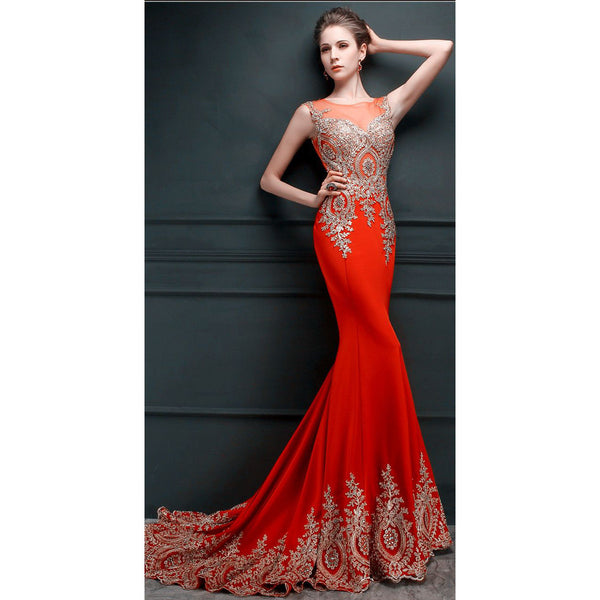 Red Mermaid Prom Dress Party Gown Cocktail Formal Wear pst1470