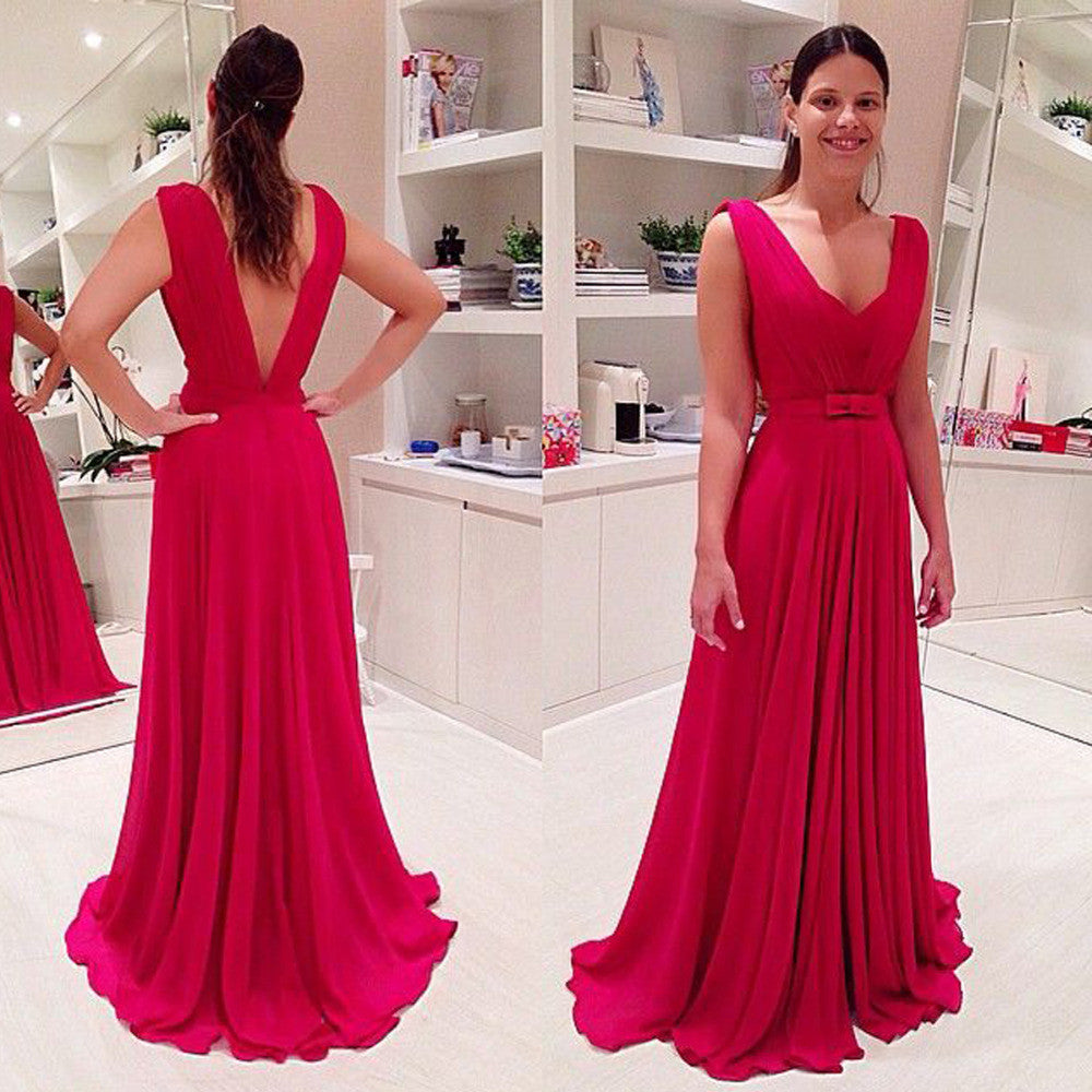 Fashion Prom Dress Deep V Neckline Party Gown Cocktail Formal Wear pst1481