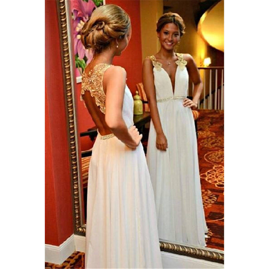Sexy Backless Wedding Dress Prom Dresses Party Gown Cocktail Formal Wear pst1501
