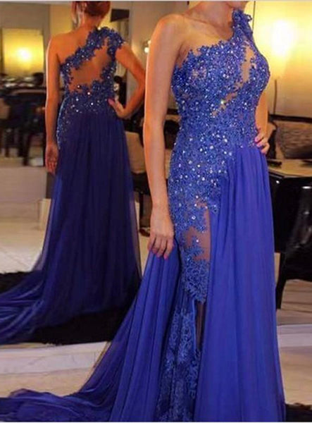 One Shoulder Prom Dresses Party Gown Cocktail Formal Wear pst1502