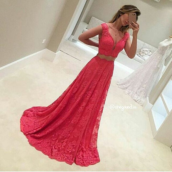 Lace Prom Dress Party Gown Cocktail Formal Wear pst1504