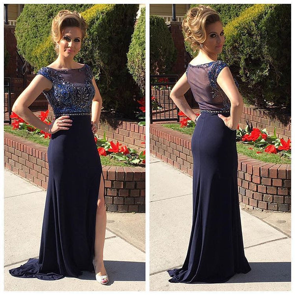 Fashion Prom Dress with Slit Party Gown Cocktail Formal Wear pst1513
