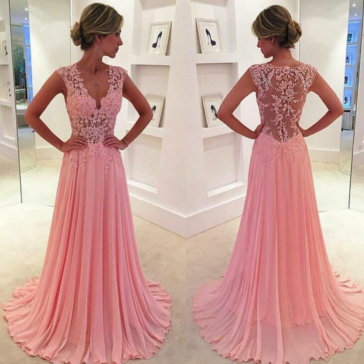 Sexy Lace and Chiffon Celebrity Prom Dresses pst0093
