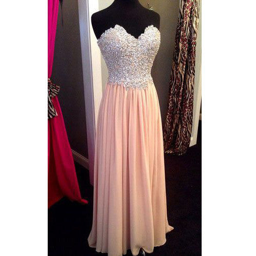 2016 Beaded and Chiffon Sweetheart Celebrity Prom Dresses pst0121