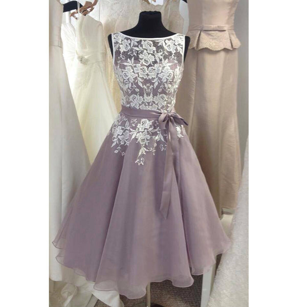 Short Lace and Tulle Homecoming Celebrity Prom Dresses pst0142