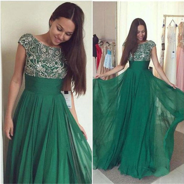 Floor Length Chiffon Evening Dresses Prom Dresses pst0175
