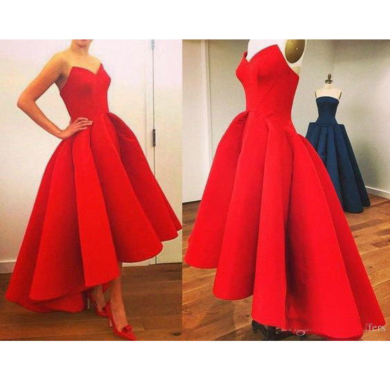 Red Hi-Lo Celebrity Prom Dresses Evening Gowns pst0177