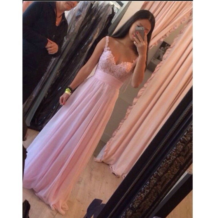 Pink Celebrity Prom Dresses Evening Gowns pst0192