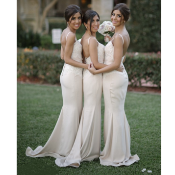 Floor Length Bridesmaid Dresses Spagetti Straps pst0241