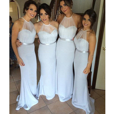 Mermaid Halter Bridesmaid Dresses pst0247