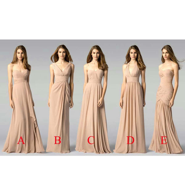 Multi Styles Floor Length Bridesmaid Dresses pst0250