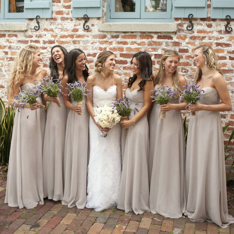 Sweetheart Bridesmaid Dresses Floor Length pst0352