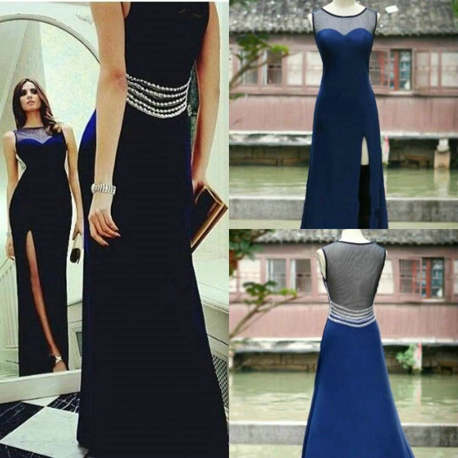 Royal Blue Prom Dresses Floor Length pst0361