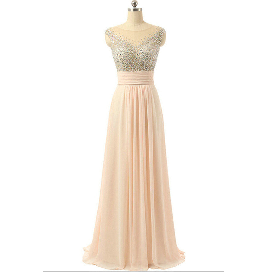 Chiffon Prom Dresses Evening Dresses Floor Length pst0374
