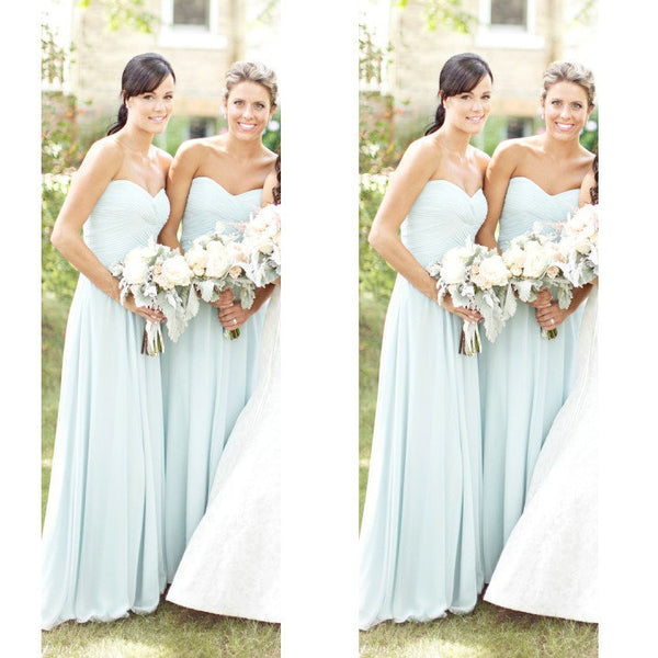 Chiffon Bridesmaid Dresses Floor Length pst392