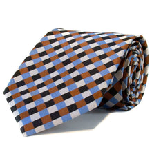Blue Black & Brown Geometric