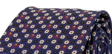 Navy with Purple & White Flowers