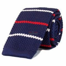 Navy with White & Red Stripes