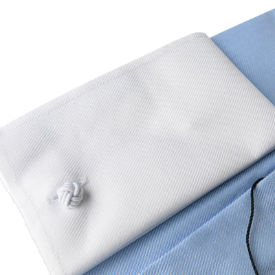 Wide Spread Blue Premium Contrast Shirt French Cuffs