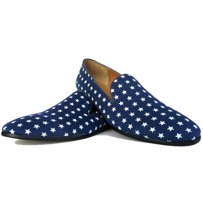 SAMPLE SMUGS Blue Star Canvas Loafer