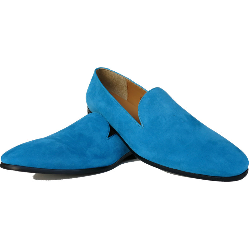 ccda2cd5f86 SAMPLE SMUGS Blue Suede Loafer - DANDY   SON