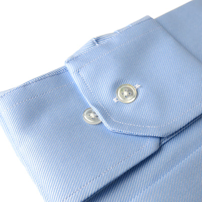 Wide Spread Blue Premium Weave Shirt