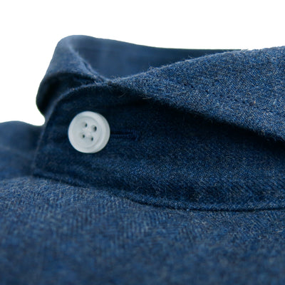 Limited Edition Extreme Cutaway Dark Blue Brushed Shirt