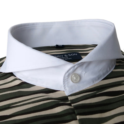 Limited Edition Extreme Cutaway Camo Contrast Shirt French Cuff