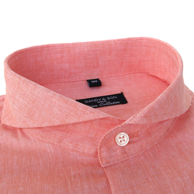 Extreme Cutaway Orange Linen Shirt