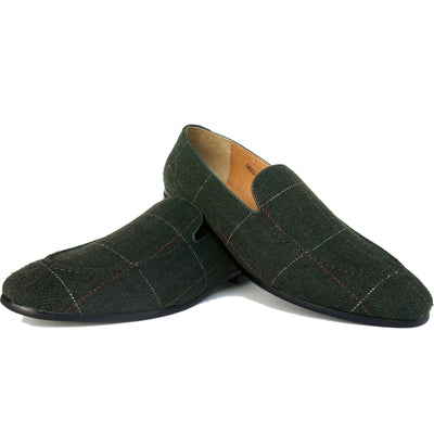 SAMPLE SMUGS Green Tweed Loafer