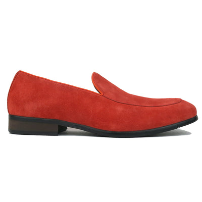 SMUGS Orange Suede Loafer