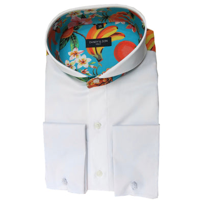 Limited Edition Extreme Cutaway Patterned Back Shirt French Cuff