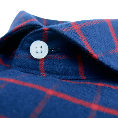 Extreme Cutaway Navy & Red Flannel Shirt