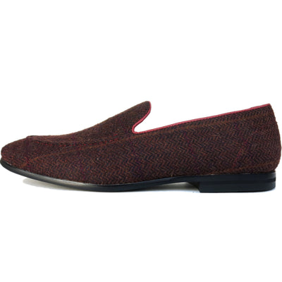 SAMPLE SMUGS Burgundy Tweed Loafer