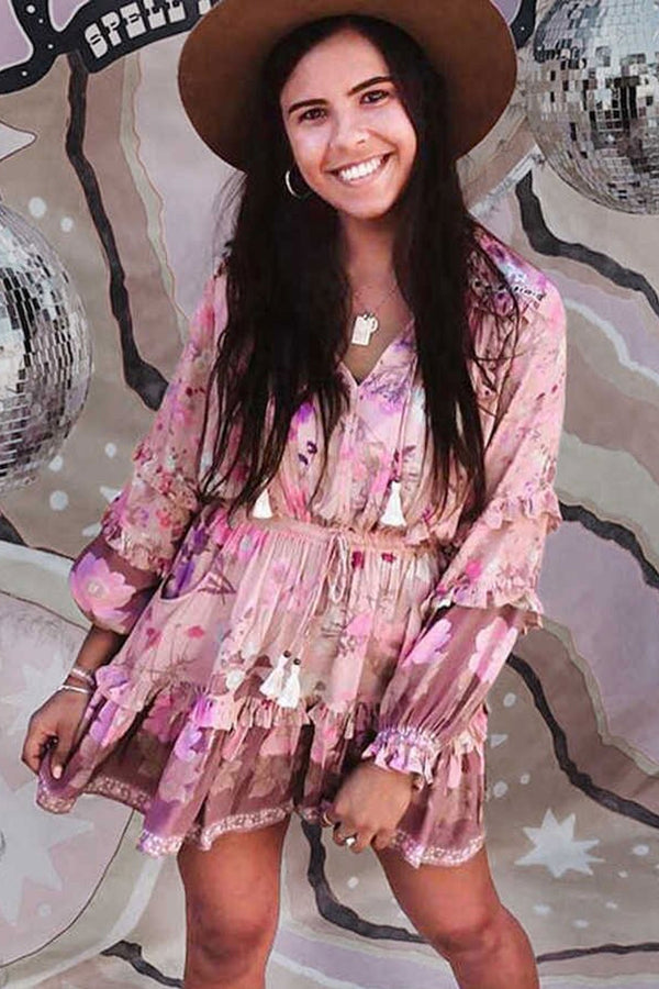 Mini Dress, Boho Dress, Playdress, Blossom in Dusty Pink