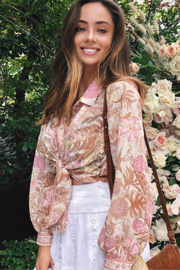 Boho Blouse,  Wild Jungle in Pink